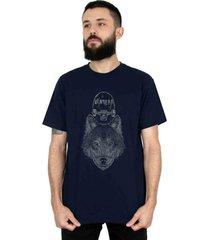 camiseta ventura wolfskater azul - azul - masculino - dafiti