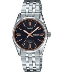 ltp-1335d-1a2v reloj dama doble calendario negro