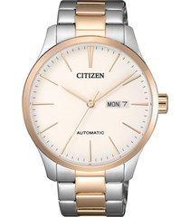 reloj  mechanical plateado citizen