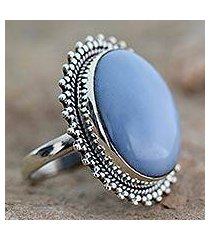 opal cocktail ring, 'blue promise' (india)