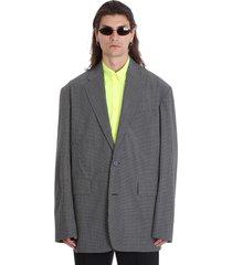 balenciaga blazer in black wool