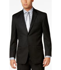 sean john men's classic-fit black solid jacket