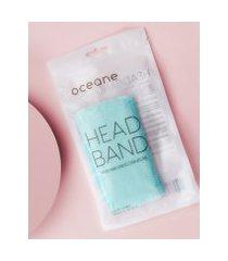 amaro feminino oceane faixa para cabelo - headband, acqua