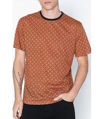 only & sons onsvp reg ss comp aop tee t-shirts & linnen ljus röd