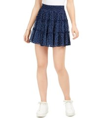 bcx juniors' dot flounce mini skirt