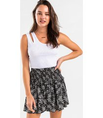 caitlin ditsy tiered mini skirt - multi