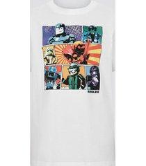 roblox t-shirt i bomull - vit