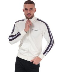 mens taped sleeve track top