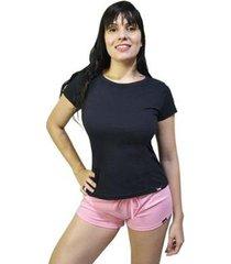 pijama conjunto camiseta e short feminino - feminino