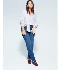 gestreepte blouse met strik