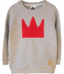 bluza red crown grey