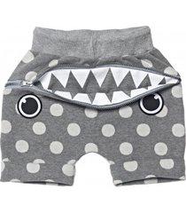 szorty hungry shorts grey dotty