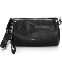 barrel leather crossbody bag