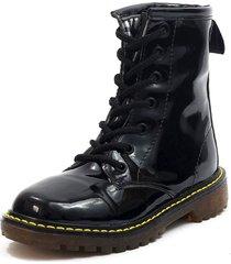 botas negro blanco perla bch-901