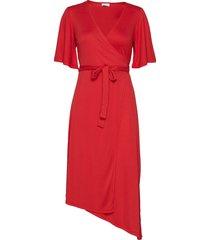 2nd evienne knälång klänning röd 2ndday