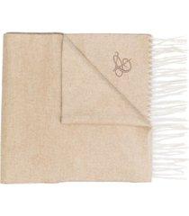 canali logo tassel scarf - neutrals