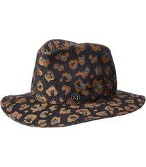 maison michel chapéu fedora jacquard enrico - preto