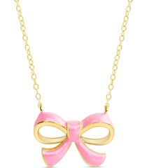 lily nily bow pendant necklace in gold at nordstrom