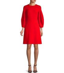 wool-blend a-line dress