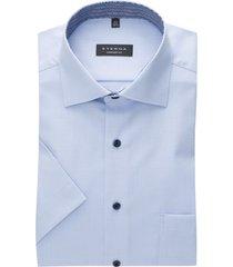 lichtblauw overhemd korte mouw eterna comfort fit