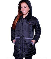 casaco sobretudo carbella carbella frio extremo preto - kanui
