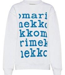 lohkare logo placement sweatshirt sweat-shirt trui wit marimekko