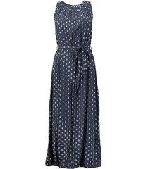 jurk sparkling print donkerblauw