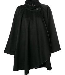 a.n.g.e.l.o. vintage cult 1980's loose fit coat - black