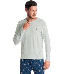 pijama masculino longo estampado birds