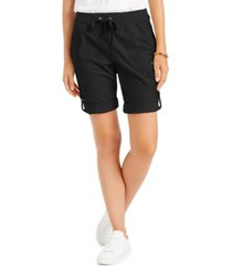tommy hilfiger roll-tab drawstring shorts