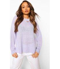 baggy trui met zijsplit, lilac