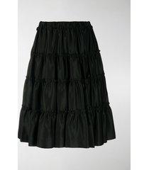 comme des garçons noir kei ninomiya tiered knee-length shorts