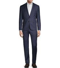 lauren ralph lauren men's ultraflex plaid suit - navy - size 44 r