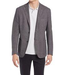 men's corneliani knit cotton sport coat, size 44 us - grey