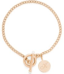 brook & york stella imitation pearl initial toggle bracelet