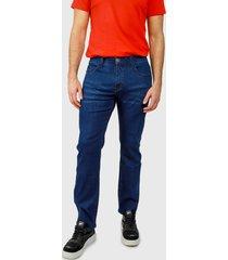 jeans ellus slim tiro medio river elastic  raw azul - calce slim fit