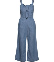 double tie jumpsuit jumpsuit blå hollister
