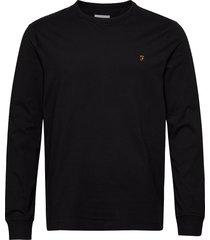 worth ls tee t-shirts long-sleeved svart farah