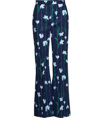 innoitus viivakukka trousers wijde broek blauw marimekko