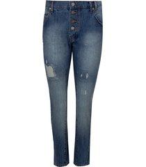 calca rosa chá marta jeans azul feminina (jeans médio, 50)