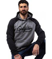 hoodie canguro cord negro gangster