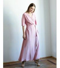 sukienka wiązana długa