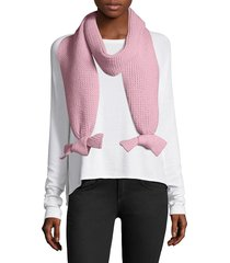helene berman women's bow tie scarf - grey