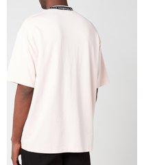 acne studios men's logo binding t-shirt - powder pink - xl