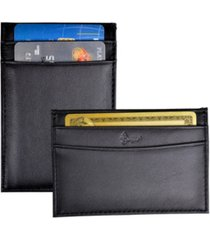 royce minimalist credit card case wallet in genuine leather