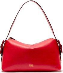 frances valentine ruby water resistant leather shoulder bag - red