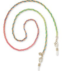 """kendra scott 14k gold-plated & colored cord braided 26"""" mask chain"""