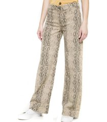 jeans pata ancha animal print serpiente multicolor five