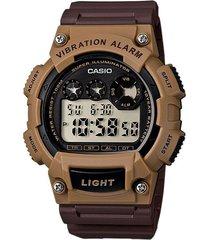 reloj casio w-735h-5av  resina hombre