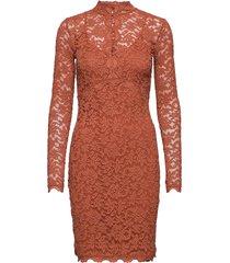 dress ls knälång klänning brun rosemunde